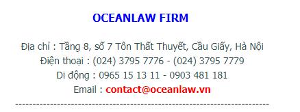 Thành lập công ty tại quận cầu giấy Hotline tu van oceanlaw